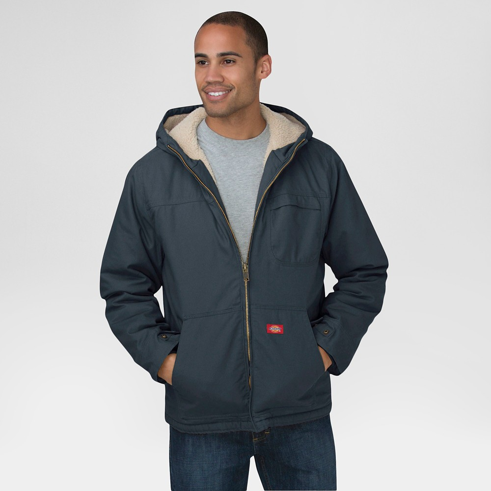 Dickies Men's Duck Sherpa Lined Hooded Jacket Dark Gray L, Grey