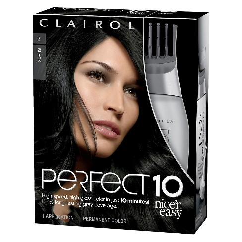 Nice 'n Easy Clairol Perfect 10 Hair Color - 2 Black - 1 kit - image 1 of 2