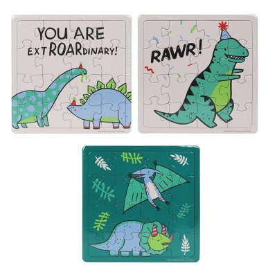 6ct Fossil Friends Dinosaur Puzzle Party Favors Spritz Target