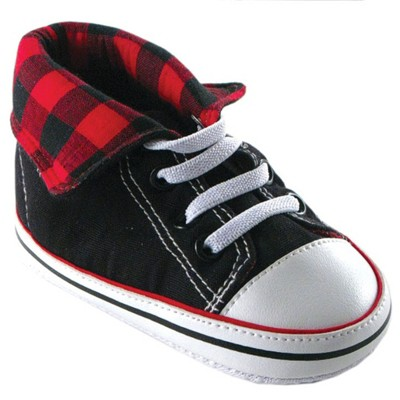 Luvable Friends Baby Boy Crib Shoes, Red Hi Top