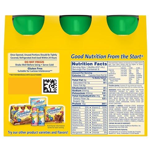 Breakfast Essentials Nutrition Label