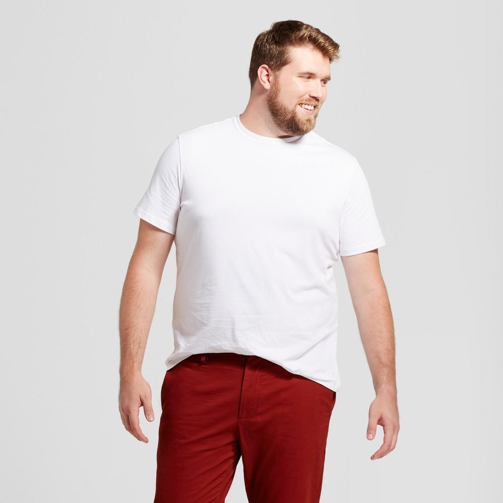 Men's Tall Standard Fit Crew T-Shirt - Goodfellow & Co White Xlt