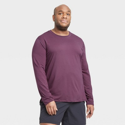 Men's Long Sleeve Performance T-Shirt - All in Motion™ Purple S