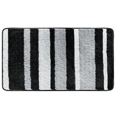"""Design Soft Striped Microfiber Non-Slip Spa Mat, 34"""" x 21"""""""
