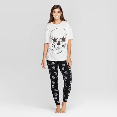 Women's Halloween Skull Pajama Set   Grayson Threads by Grayson Threads