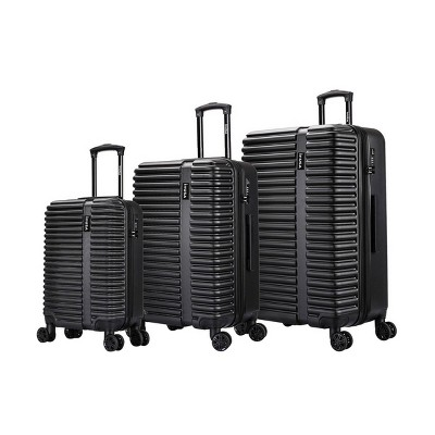 InUSA Ally Lightweight Hardside Spinner 3pc Luggage Set - Black