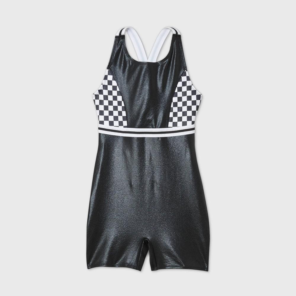 Best Girls' Checkered Gymnastics Biketard - More Than Magic™