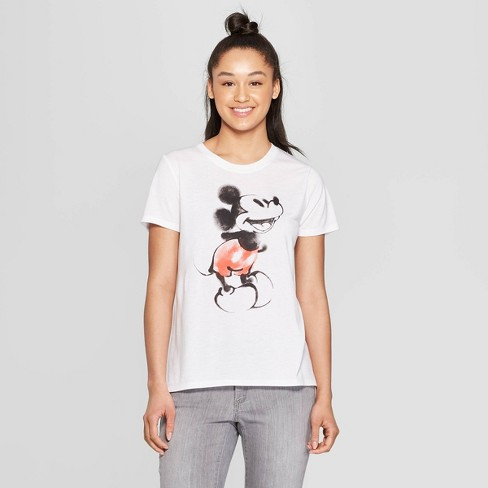 bee44678 Women's Disney Short Sleeve Mickey Mouse Graphic T-Shirt (Juniors') White