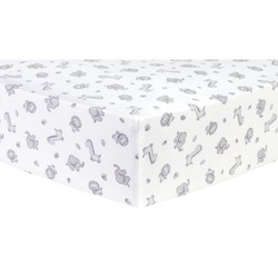 Trend Lab Happy Penguins Deluxe Flannel Fitted Crib Sheet