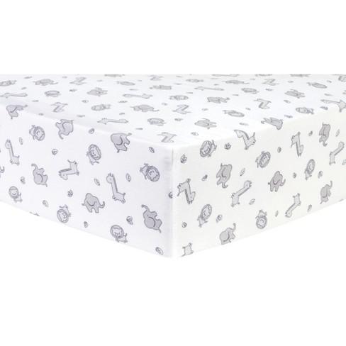 Trend Lab Deluxe Flannel Crib Sheet - Safari Chevron - image 1 of 2