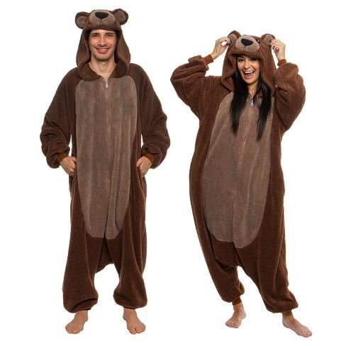 FUNZIEZ! Sherpa Bear Adult Unisex Novelty Union Suit - image 1 of 4