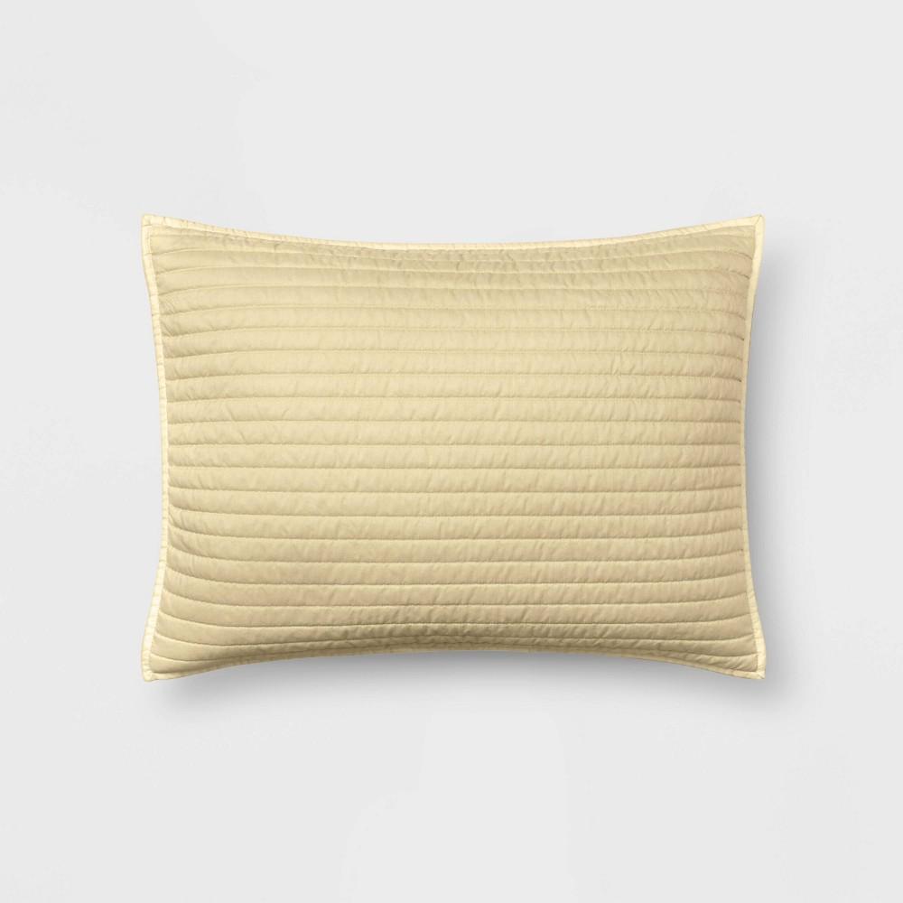 Standard Garment Washed Microfiber Sham Cream Room Essentials 8482