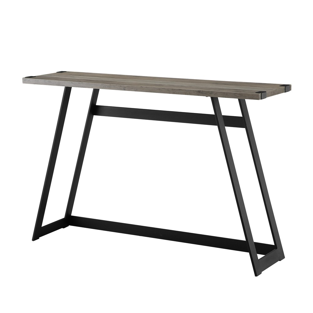 46 Metal Wrap Entry Table Gray Wash - Saracina Home
