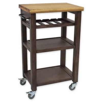 Belden Square Kitchen Cart Gray - Hopper Studio