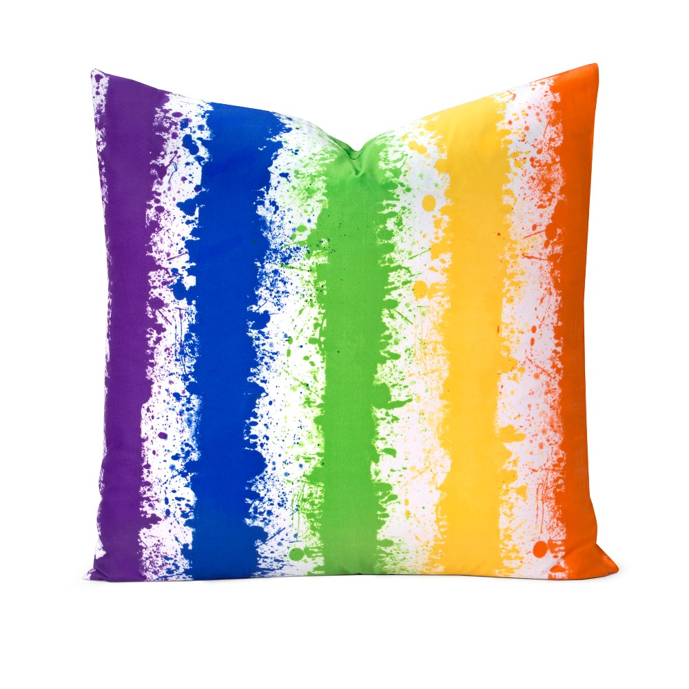 "Image of ""Brain Waves 26"""" Throw Pillow - Learning Linens"""
