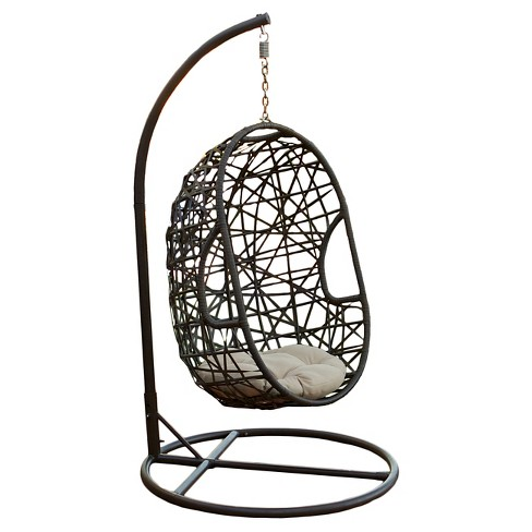 Egg Wicker Patio Chair - Brown - Christopher Knight Home - image 1 of 4
