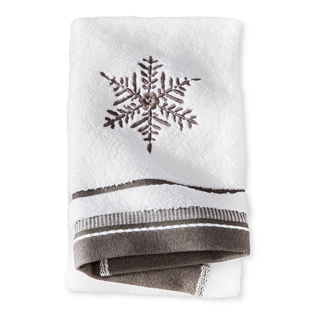 Monogramed Hand Towel Snowflake - Threshold