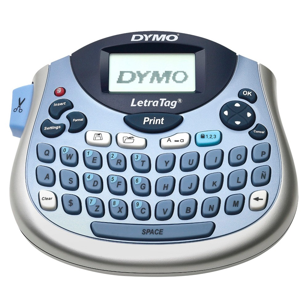 ACCENT Dymo LetraTag 100T Tabletop Label Maker, Silver