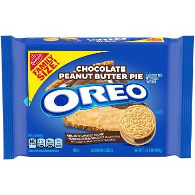 Oreo Chocolate Peanut Butter Pie Sandwich Cookies Family Size - 17oz