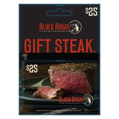 $25 Black Angus Steakhouse Pre-paid Dining Card