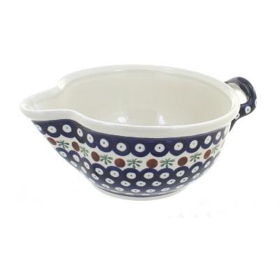 Blue Rose Polish Pottery Nature Batter Bowl