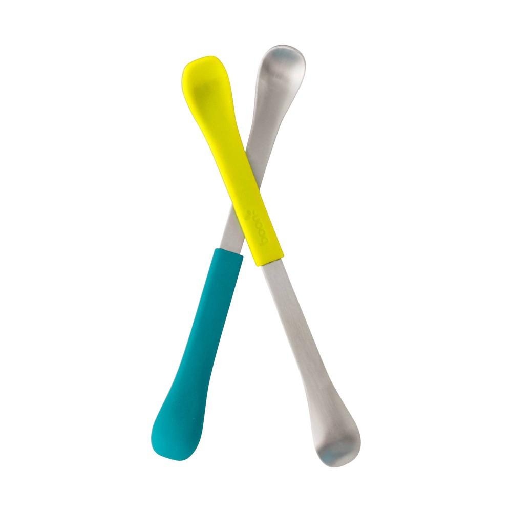 Image of Boon SWAP 2-in-1 Feeding Spoon - 2pk Teal & Yellow, Yellow Green