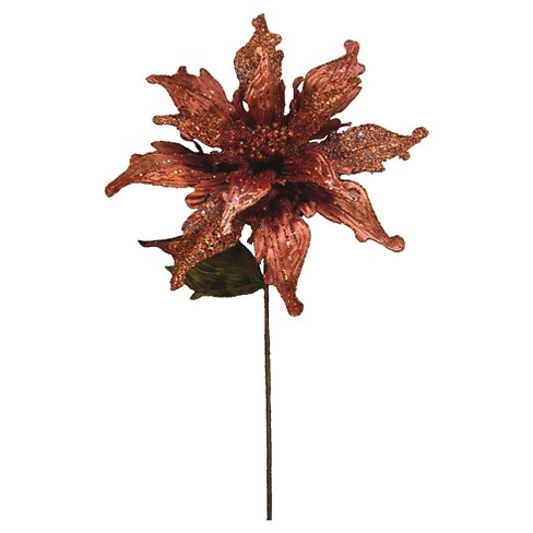 "31"" Poinsettia 14"" Flower- Copper - image 1 of 1"