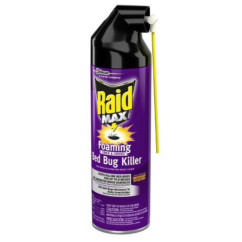 Raid Max Foaming Bed Bug Killer 17 Fl Oz Target