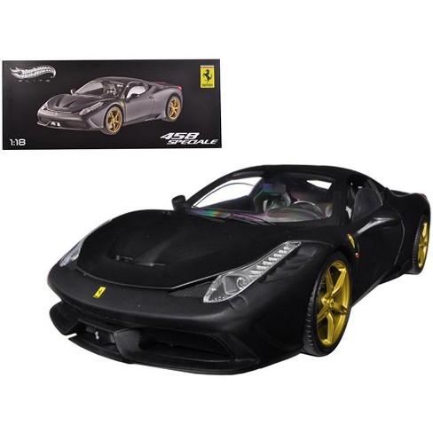 Ferrari 458 Speciale Elite Edition Matt Black 118 Diecast Car Model By Hotwheels