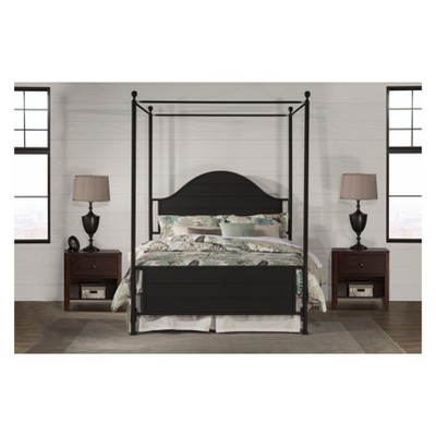 Cumberland Metal Canopy Bed Set Queen Textured Black   Hillsdale Furniture  : Target