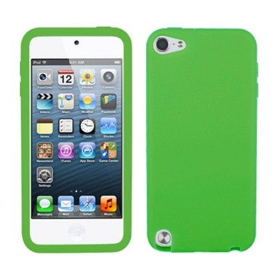 MYBAT For Apple iPod Touch 5th Gen/6th Gen Green Skin Rubber Case