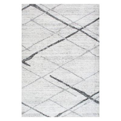 Gray Solid Loomed Area Rug 3'X5' - nuLOOM