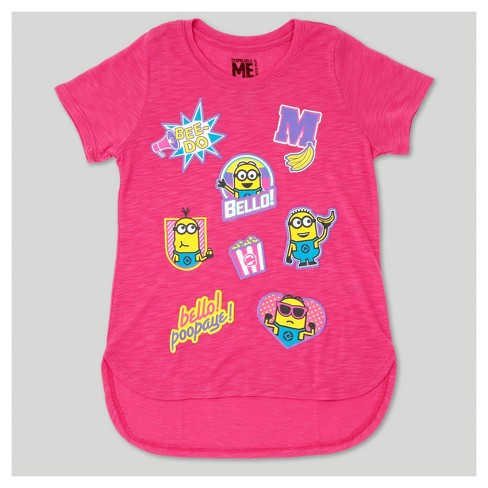 8ced7e81b Girls' Despicable Me Minions Short Sleeve T-Shirt - Pink : Target