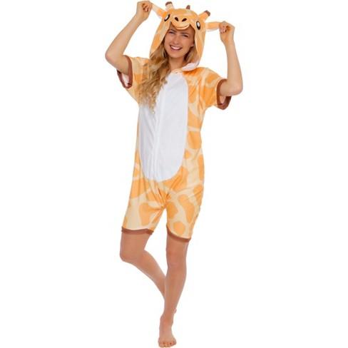 Funziez! Giraffe Women's Short Sleeve Novelty Romper - image 1 of 4