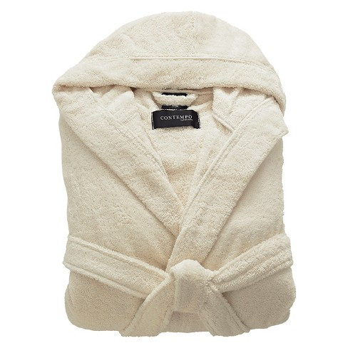 2cc5f88df1 Kassatex Contempo Turkish Cotton Bath Robe - Ecru   Target