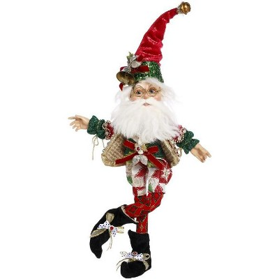 """Mark Roberts Products 13"""" Green and Red Mark Roberts North Pole Worlds Fair Christmas Elf Figure"""