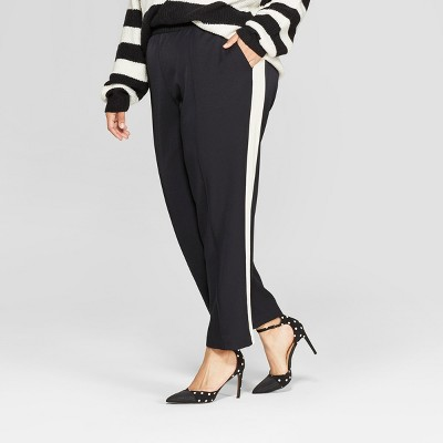 womens-plus-size-side-striped-ankle-trouser---who-what-wear by who-what-wear
