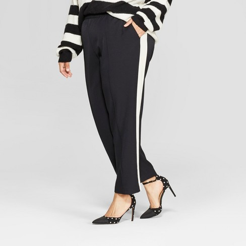 Women's Plus Size Side Striped Ankle Trouser - Who What Wear™ - image 1 of 3