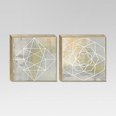 2pk Geometric Framed Canvas 18 x18  - Project 62™