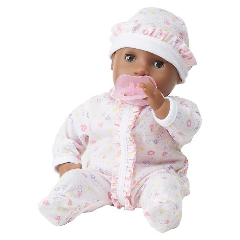 Melissa & Doug® Mine to Love Gabrielle 12-Inch Poseable Baby Doll With Romper and Hat - image 1 of 3