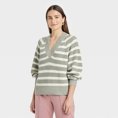 Women's V-Neck Pullover Sweater - A New Day™