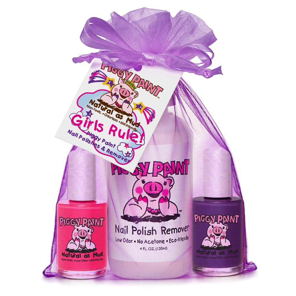 Image of Piggy Paint Girls Rule! Non-Toxic Nail Polish and Polish Remover Set
