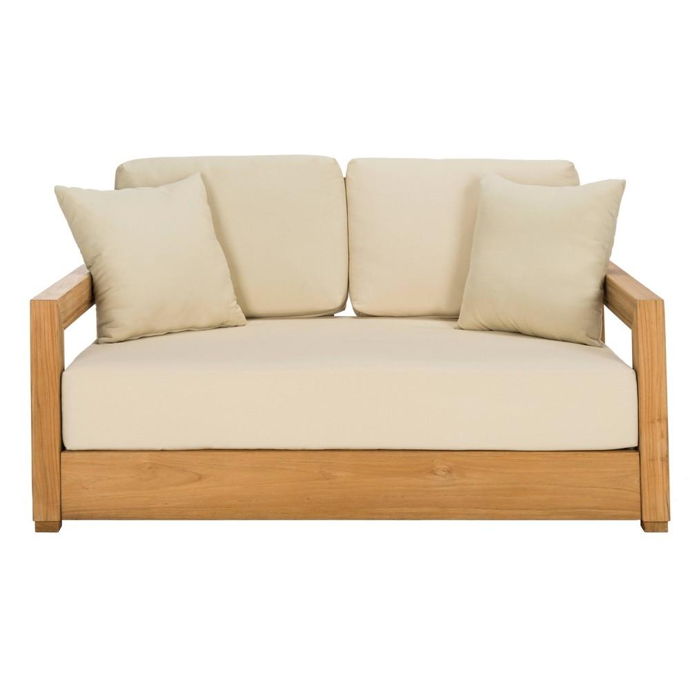 Montford Teak (Brown) 2 Seat Bench Teak - Safavieh