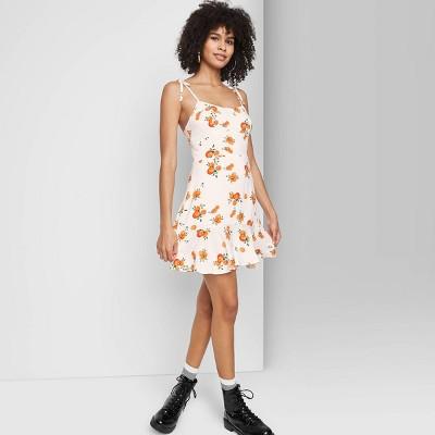 Women's Sleeveless Tie-Strap Drop Hem Dress - Wild Fable™