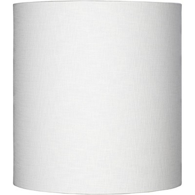 Brentwood White Tall Linen Drum Shade 14x14x15 (Spider)