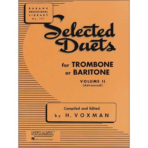 Hal Leonard Rubank Selected Duets for Trombone Or Baritone Vol 2 - image 1 of 1