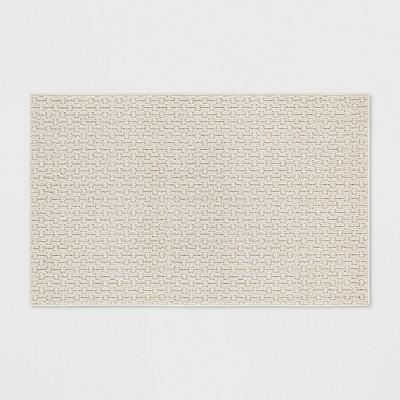 "2'6""X3'10""/30""X46"" Solid Washable Tufted Accent Rug Tan - Made By Design™"