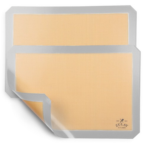 "Zulay Kitchen (2 Pack) Silicone Baking Mat Sheet Set - Reusable Baking Mat Nonstick (Size 16.5"" x 11.6"") - image 1 of 4"