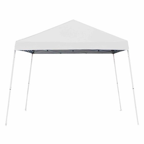 Z-Shade 10' x 10' Angled Leg Instant Shade Canopy Tent Portable Shelter, White - image 1 of 4