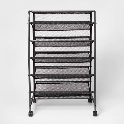 Double Sided Rolling Shoe Rack Black - Room Essentials™